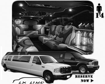 Lincoln Excursion SUV Limo for hire in Raleigh, NC